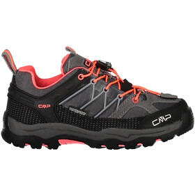CMP Campagnolo Rigel Low WP Chaussures de trekking Enfant, grey-red fluo